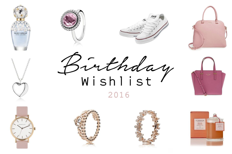 Birthday Wishlist 2016