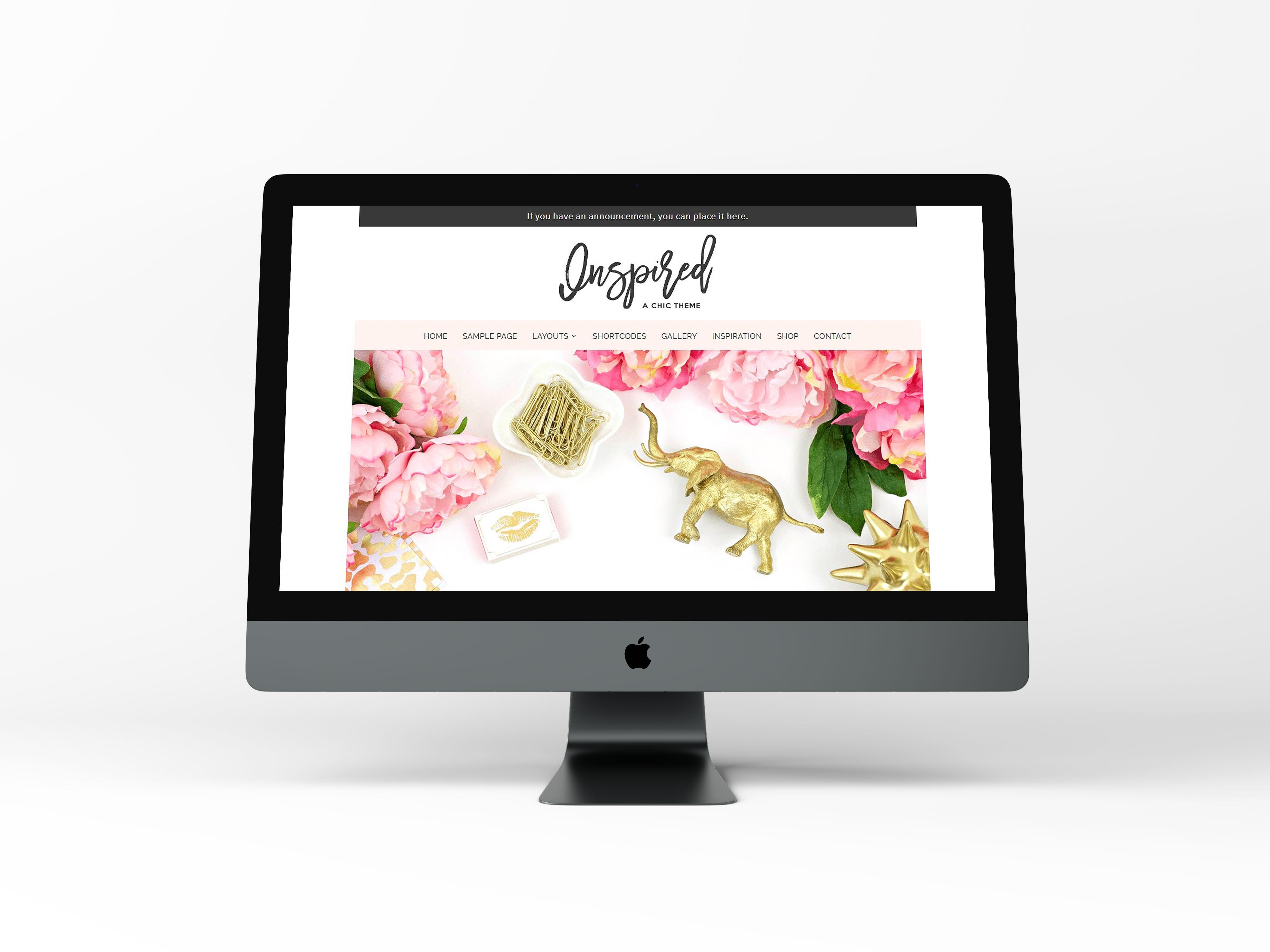 Inspired - Feminine WordPress Theme