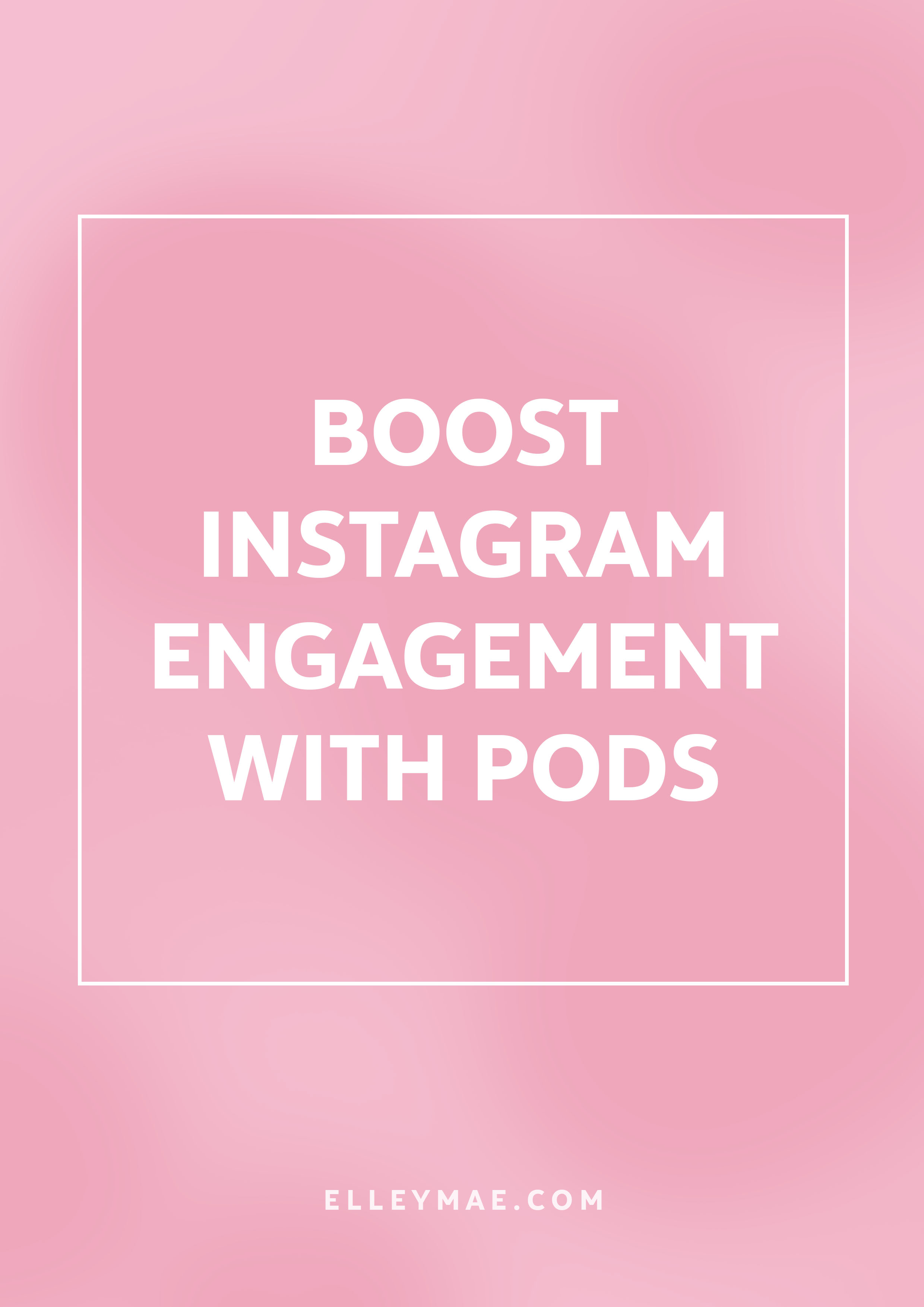 What Are Instagram Pods & Should You Join One? | Boost Instagram Engagement | Gain Instagram Followers Fast | SkyRocket Your Instagram | Grow your Instagram following by joining Instagram comment pods. It'll help to boost your engagement & see your posts land on the explore page more often that not. Beat the Instagram algorithm & kick ass on Instagram! | Learn more at ElleyMae.com