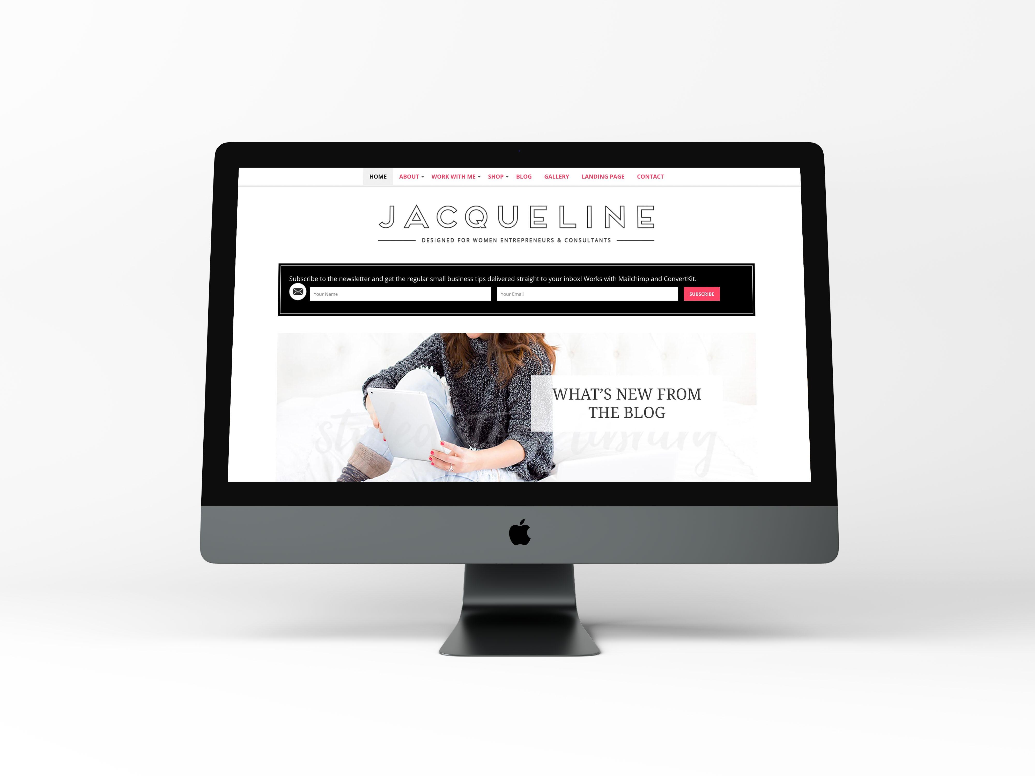 Jacqueline - Feminine WordPress Theme