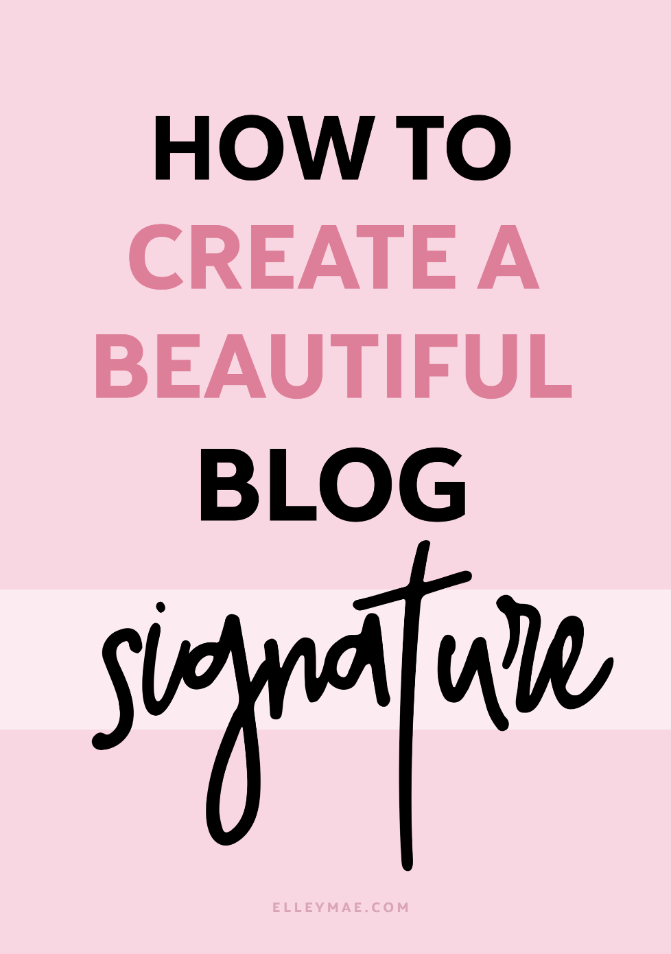 How To Create & Add A Blog Signature To Your Posts | Adding a blog signature to your posts has never been easier. Create a stunning website & build brand consistency by adding a blog signature to the end of each blog post before you hit publish. Download WordPress plugins or manually add them yourself - the choice is yours | Learn more at ElleyMae.com