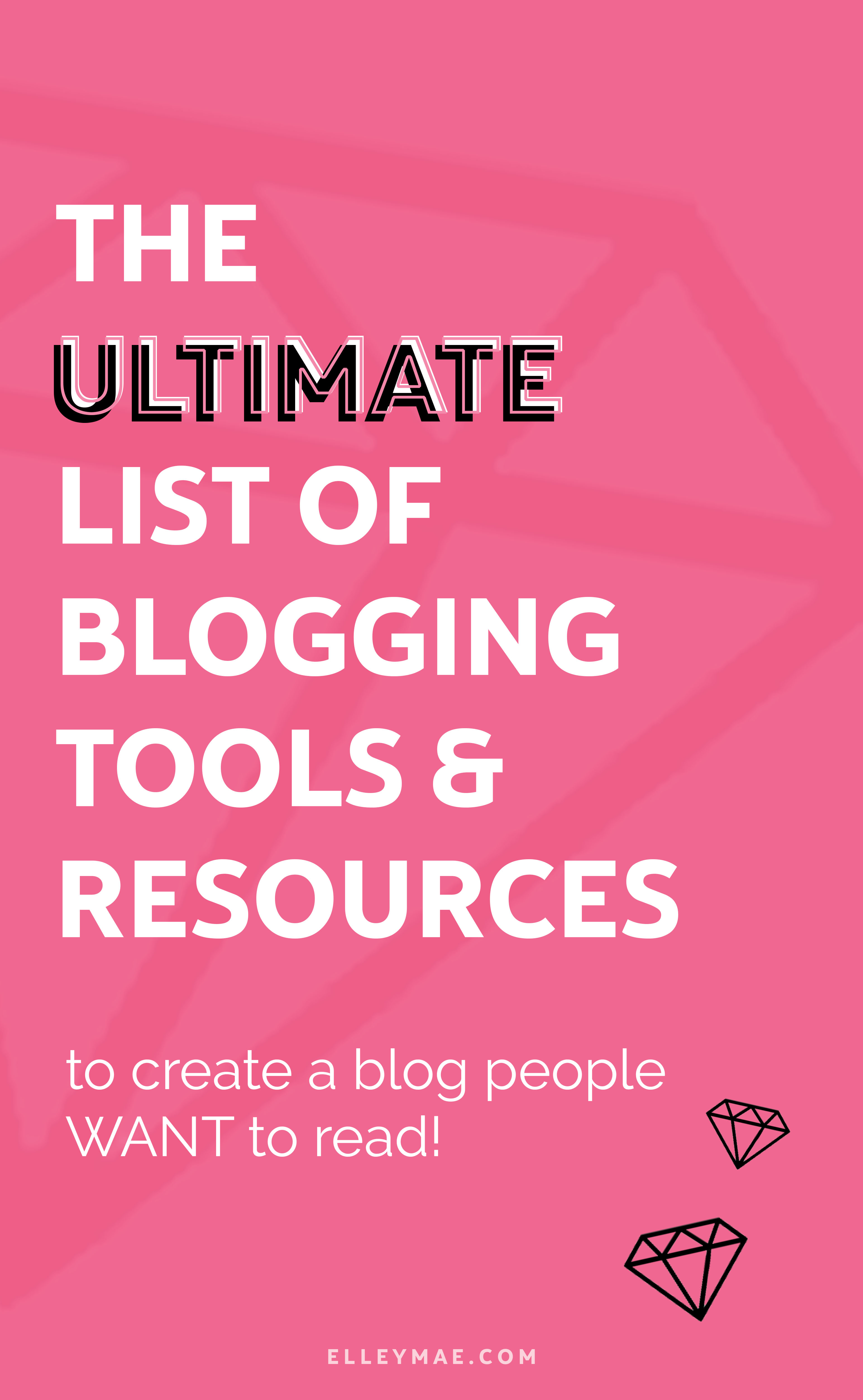 25 Essential Blogging Tools In Every Pro Bloggers Toolkit | So you want to start a blog but you're unsure what blogging tools you're actually going to need hey? Well, get instant access to the ultimate list I've put together so you don't have to waste time Googling aimelessly (like I did). Use Tailwind to put your Pinterest on autopilot, grow your following with BoardBooster, write amazing blog posts with Grammarly & so much more. This is THE ULTIMATE list for pro bloggers reading to skyrocket their growth on their blogs & social platforms. Download free blog resources instantly | ElleyMae.com