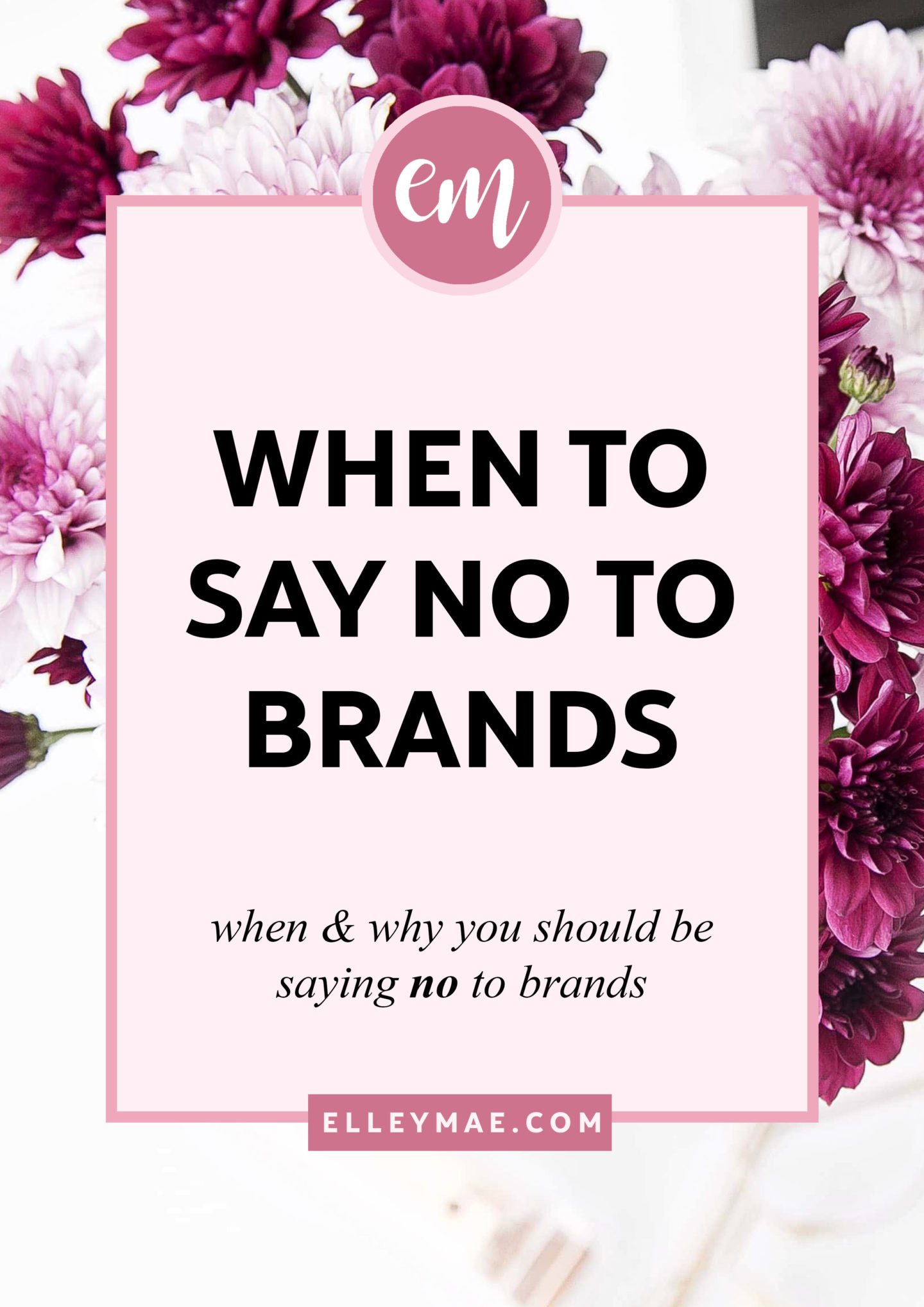 When & Why To Say No To Brands | So a brand has just emailed you offering some wicked deal, free product or discount code. Seems fab, huh? Well, chances are, you could be getting ripped off. Let me show you real life email examples from brands that you won't believe & then you'll see why it's more than okay to say no to brands who don't love you for you | Social Media Tips, Social Media Marketing, Free Blog Resources, Free Blog Template, Work With Brands, Make Money Online, Make Money Blogging, Make Money on Instagram, Get Free Products, Free Products Blogging, Email Templates, Email Examples | ElleyMae.com