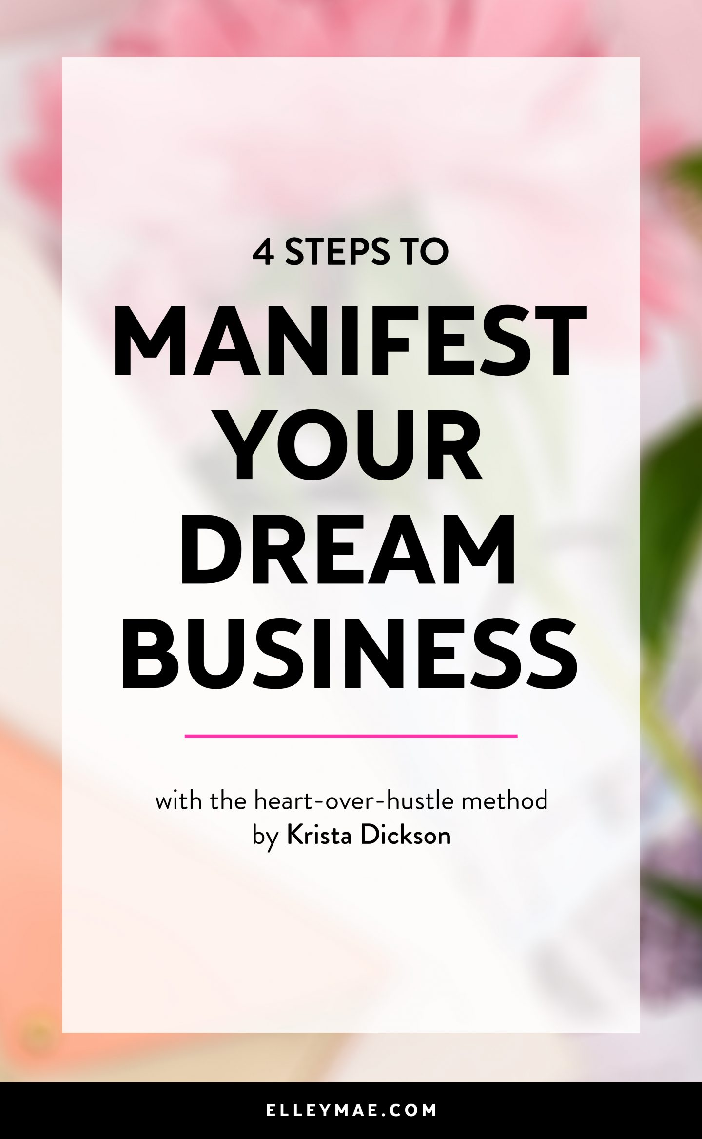 4 Steps to Manifest Your Dream Business   Today's guest post by Krista Dickson from kristadickson.com is a game-changer when it comes to manifesting your dream business & manifesting dream clients!   #manifesting #lawofattraction #businesscoach   Law of Attraction, Manifest Money, Money Affirmations, Affirmations, Entrepreneur, Spiritual, Spiritual Business, Soulful Entrepreneur, Soulful Business, Manifest Clients, Dream Clients, Make Money Online, Online Business, Business Method, Business Model, Blogging, Social Media, Entrepreneur Mindset