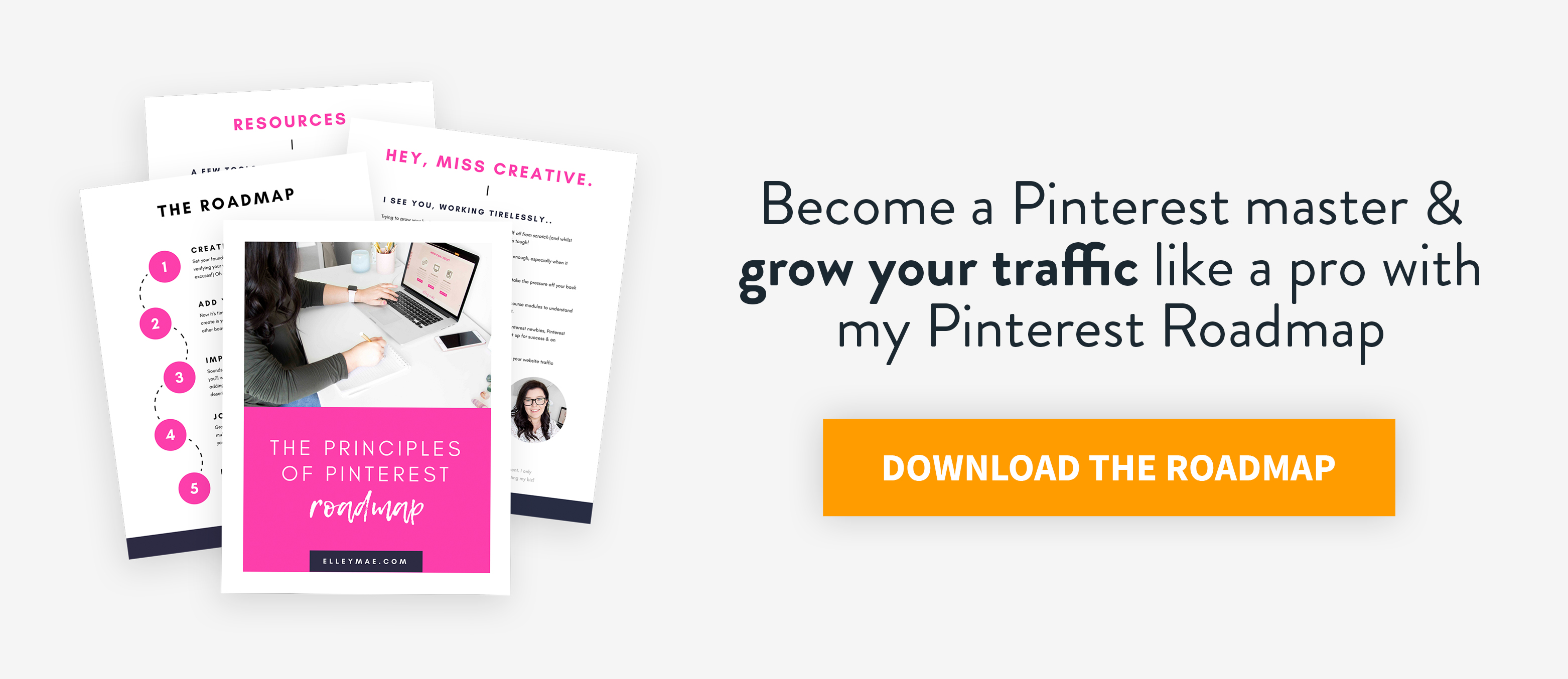 The Principles of Pinterest Roadmap | Are you ready to grow your blog traffic, increase your conversions & finally become a master at Pinterest? Girl, I've got you covered. Download my FREE Pinterest Roadmap now & become a pro in no time at all! | Pinterest Roadmap, Pinterest Manager, Pinterest Graphics, Pinterest Templates, Pinterest Strategy, Pinterest Tutorial, Tailwind, Tailwind for Pinterest, Pinterest Marketing, Social Media Marketing | #Pinterest #PinterestRoadmap #PinterestManager