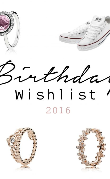 Birthday Wishlist 2016