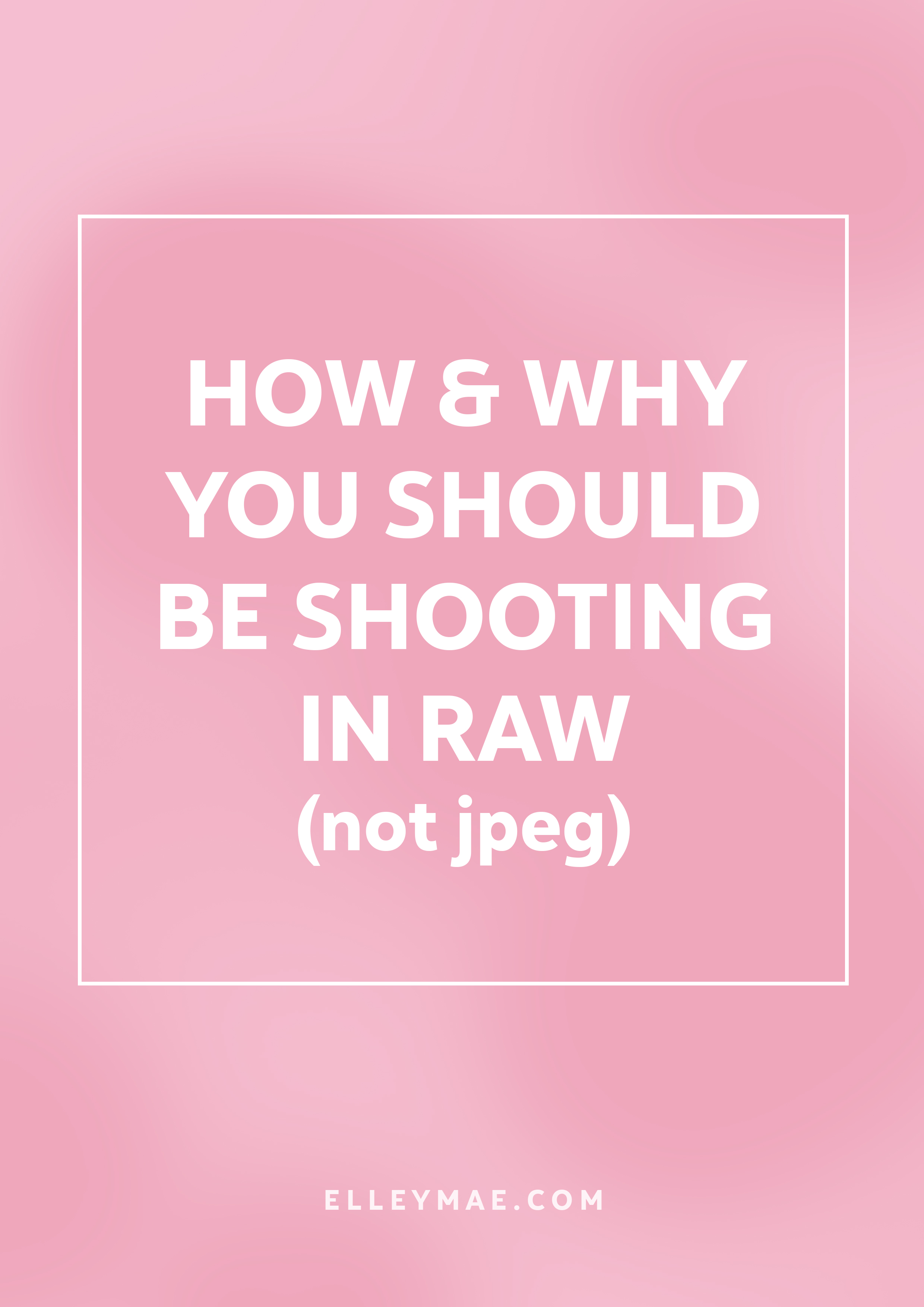 How To Edit Raw Photos in Photoshop | There's a reason pro photographers shoot in RAW not Jpeg & today you're going to find out. Shooting in RAW not only allows you to gain more control over your camera, your photo & your settings but you have so much more customisation in Adobe Photoshop editing. Learn more at ElleyMae.com