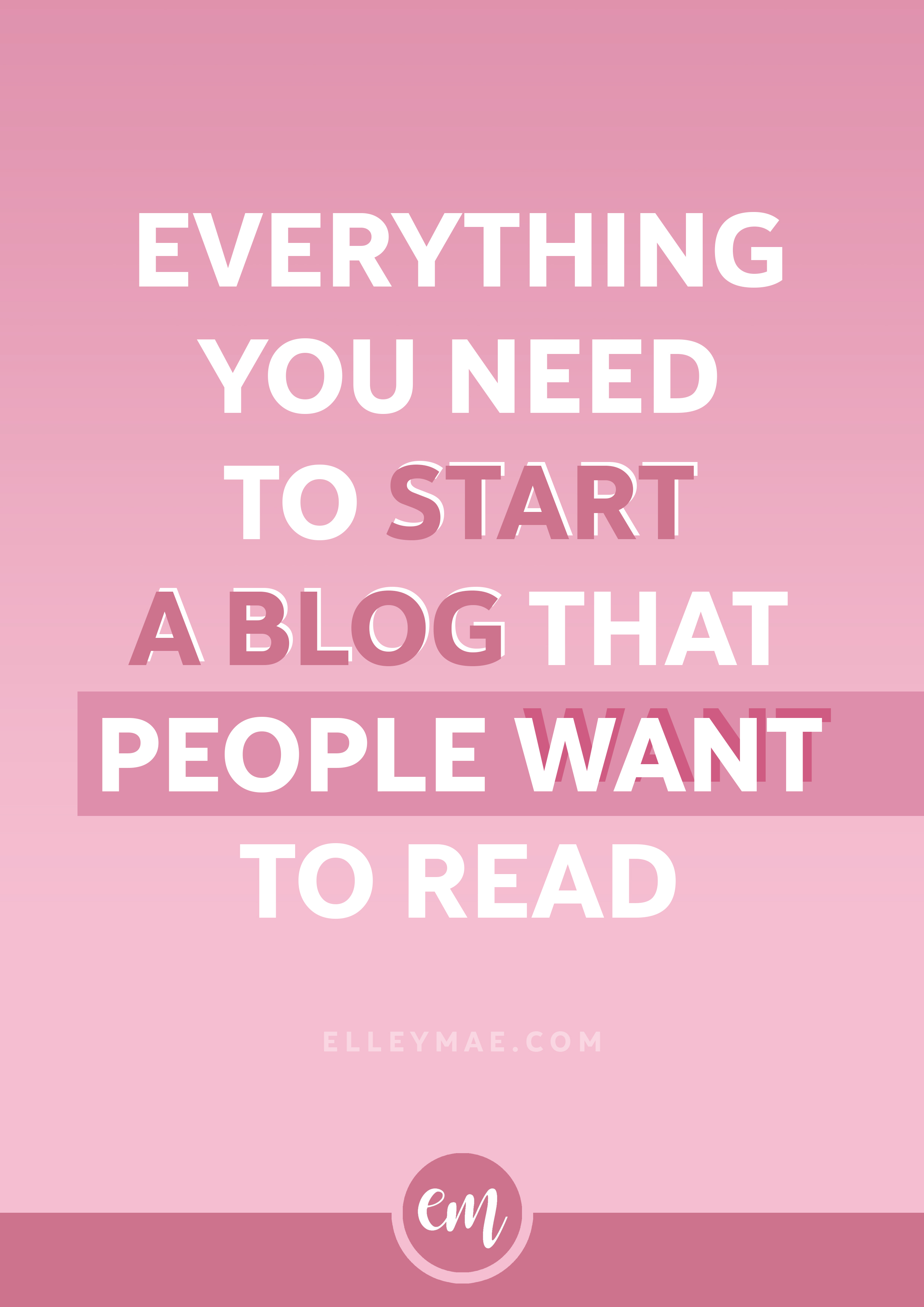 Start A Blog | So you're ready to start your own blog but not sure where to start, hey? No worries - use my method & you'll have lots of traffic, social media subscribers & more in no time! Learn More at ElleyMae.com | Grow Your Blog | Get Instagram Followers | Free Blog Design | Start A Blog | Start A Lifestyle Blog | Start A Mom Blog | Start A Beauty Blog | Make Money Online | Make Money From Home | Blogging For Beginners & More!