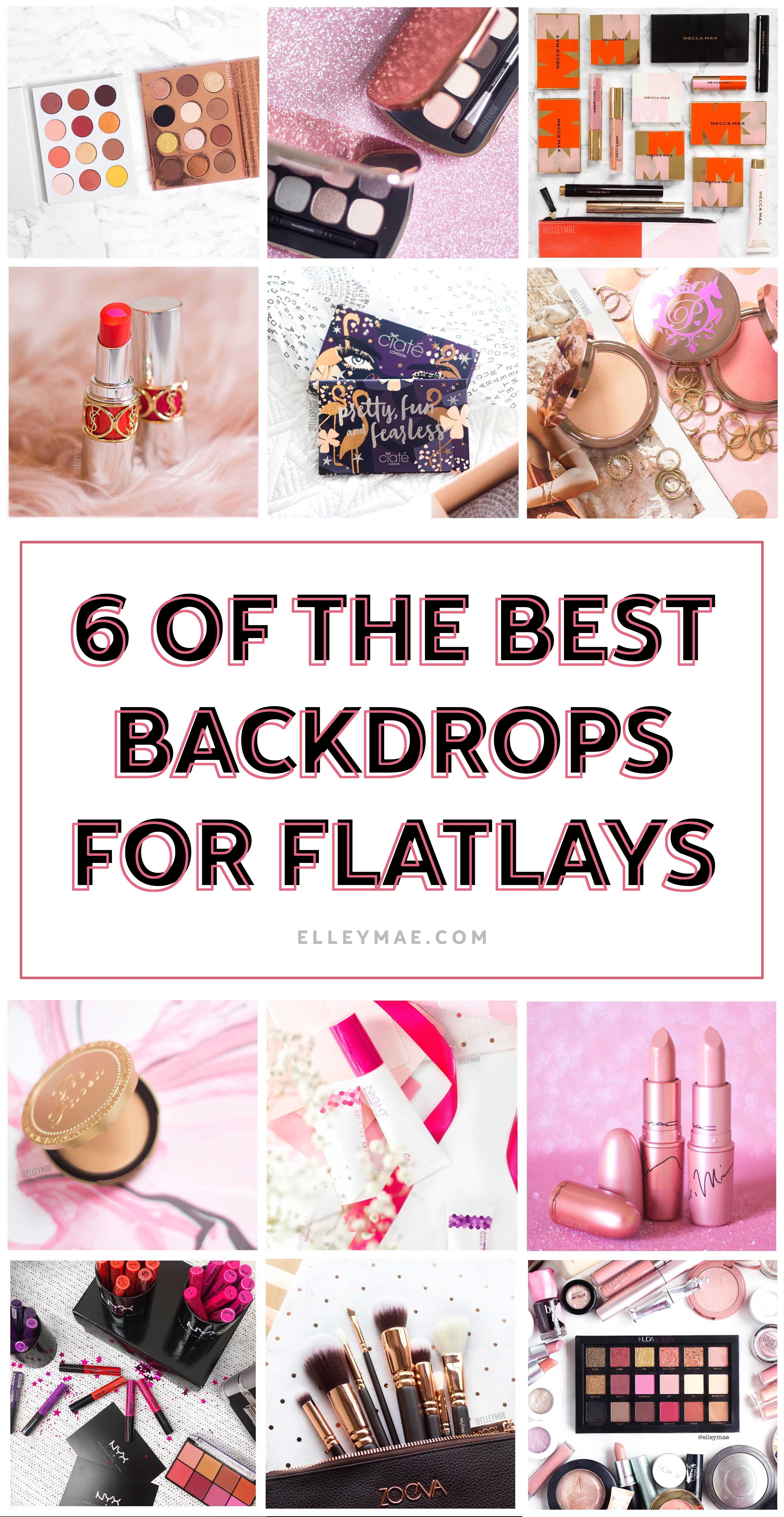 A List of The Best Backdrops for Flatlays | Grow your blog with professional photography for both products & portraits - Learn how to gain loyal readers with gorgeous photographs using these 6 photo backdrops | Learn more at ElleyMae.com | Blog - Grow Your Blog - Photography Tips - Blog Tips for Beginners - Photography Tips for Beginners | Learn More At ElleyMae.com