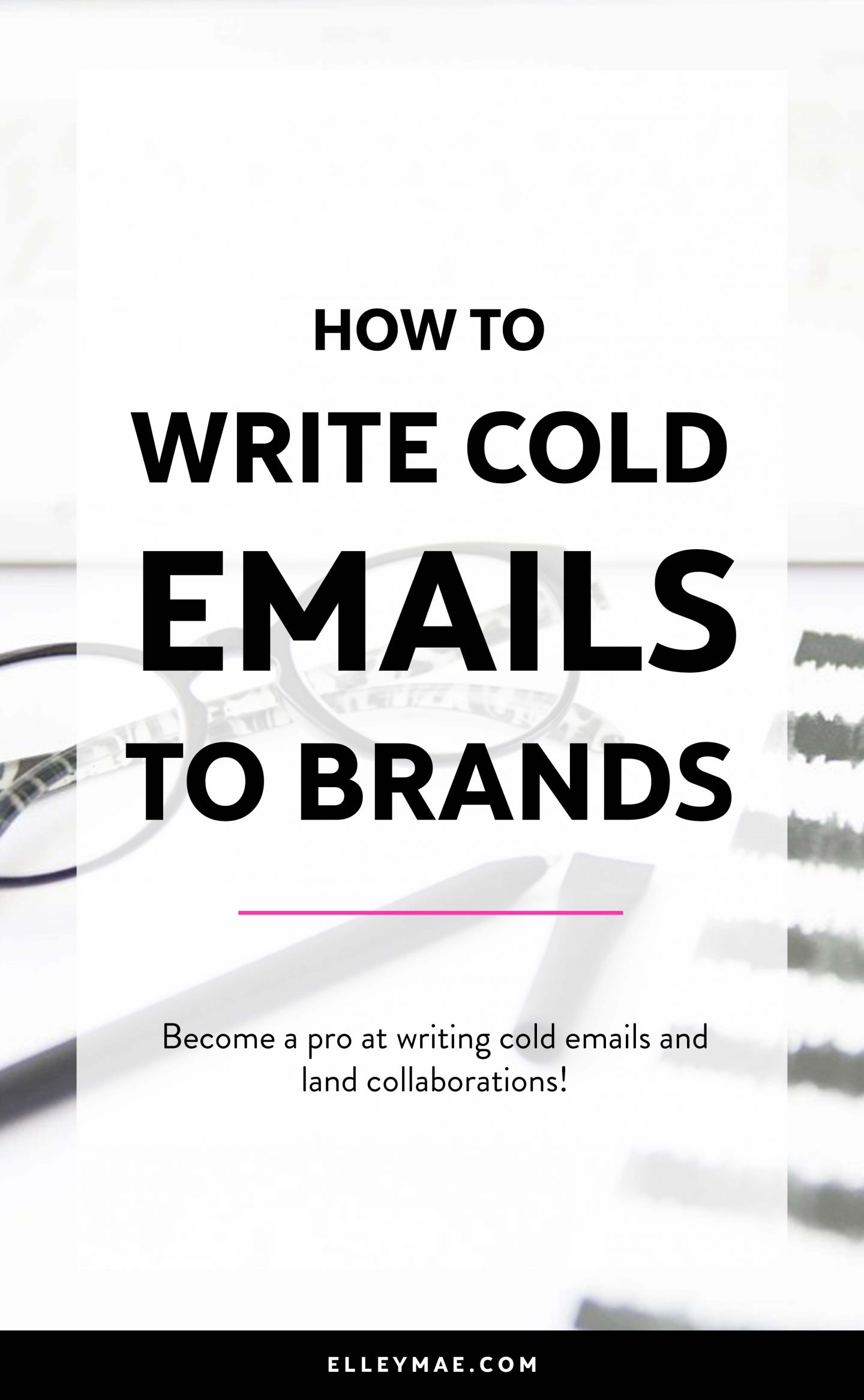 How To Reach Out To Brands With Cold Emails | Get free products, get free makeup & get free stuff through blogging and social media. Become a successful Instagram influencer by reaching out to brands & PR the right way. Follow this step-by-step guide to emailing brands for free products & to score collaborations and set yourself up for success. Download your free blogging worksheet! ElleyMae.com
