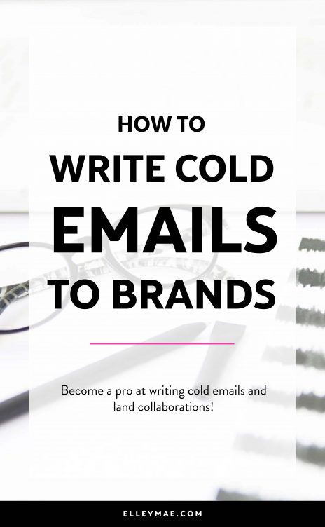 How To Reach Out To Brands With Cold Emails   Get free products, get free makeup & get free stuff through blogging and social media. Become a successful Instagram influencer by reaching out to brands & PR the right way. Follow this step-by-step guide to emailing brands for free products & to score collaborations and set yourself up for success. Download your free blogging worksheet! ElleyMae.com