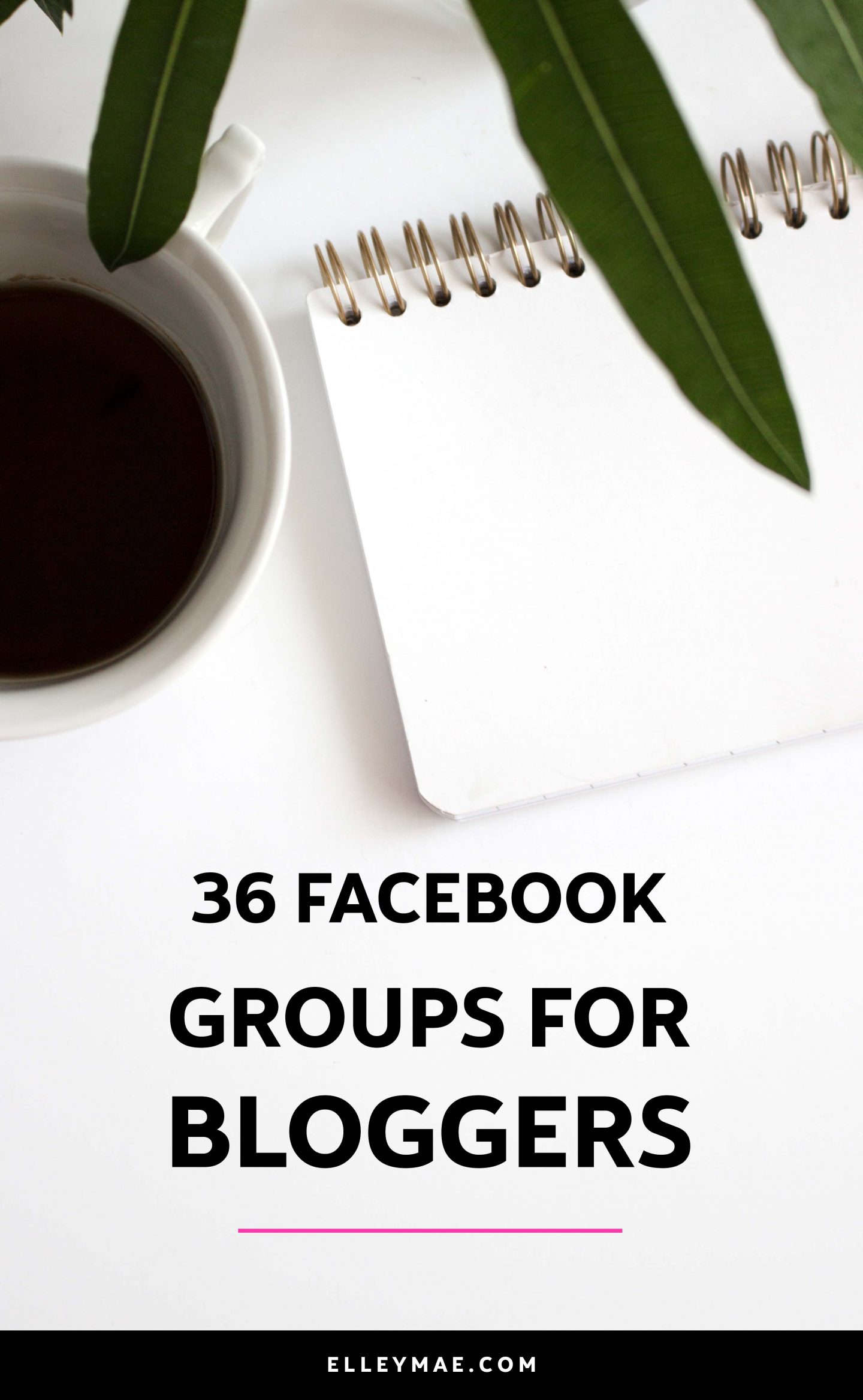 36 Of The Best Facebook Groups For Bloggers | Grow your blog by joining other like-minded creative entrepreneurs, social media influencers & bloggers in these 36 Facebook groups for bloggers. Promote your blog posts, learn new tricks & build relationships with others and take advantage of being an active member in these Facebook groups for bloggers. Your blog will thank you later! | Learn more at ElleyMae.com