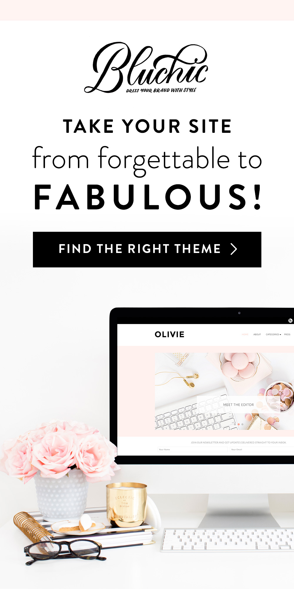 BluChic Feminine Wordpress Themes With ElleyMae.com
