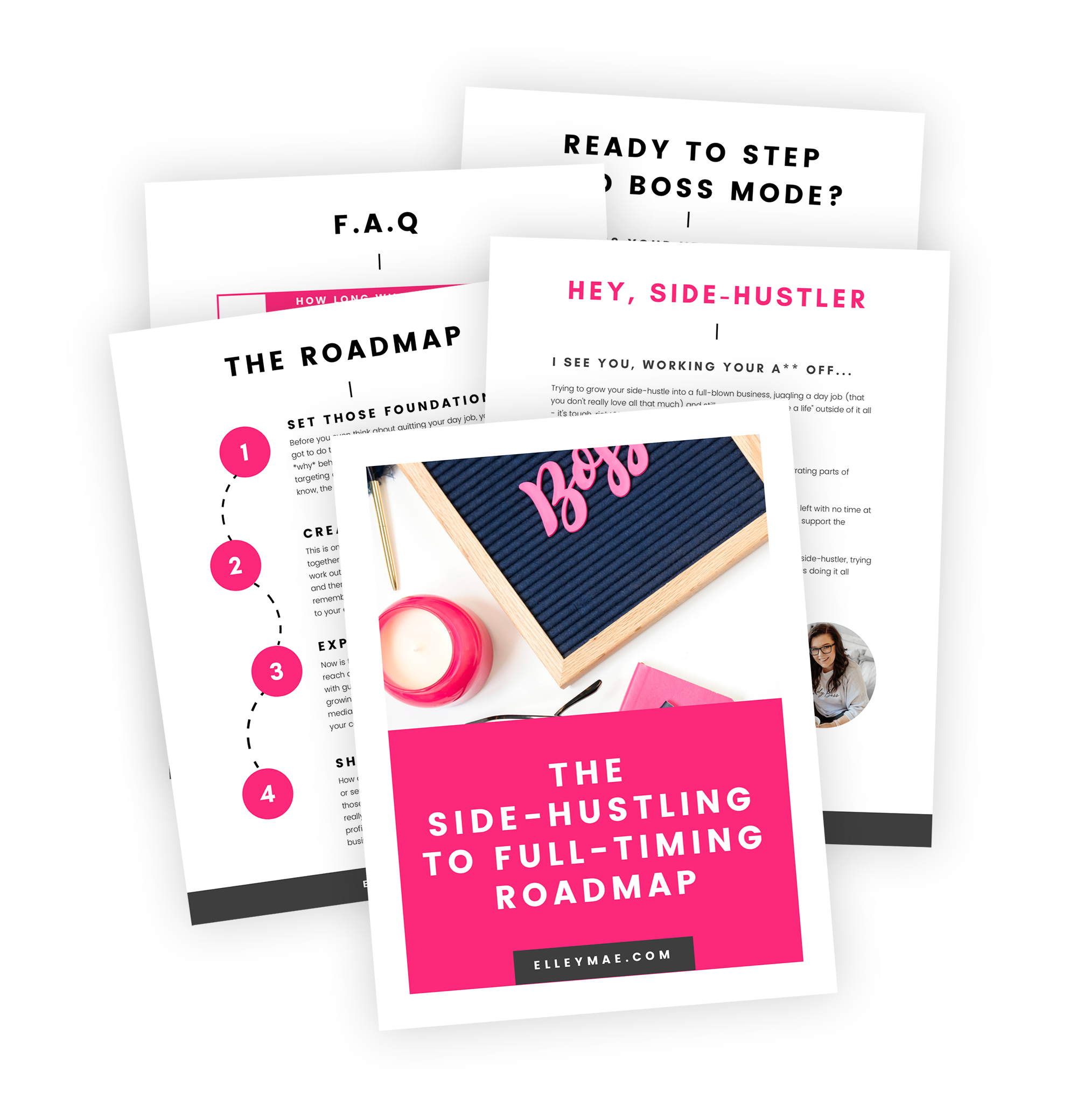 Are you ready to take your side-hustle full-time? Do you want to quit your 9-5 and work from home? Girl, I hear you! Download The Side-Hustling to Full-Timing Roadmap now to skyrocket your success and *finally* quit your day job to pursue your passion! I quit my day job in less than 12 months and now make a living helping other ladies to do the same! | Work From Home, Quit Your Day Job, Quit Your 9-5, Side-Hustle, Full-Time Blogger, Full-Time Entrepreneur, Digital Nomad | ElleyMae.com